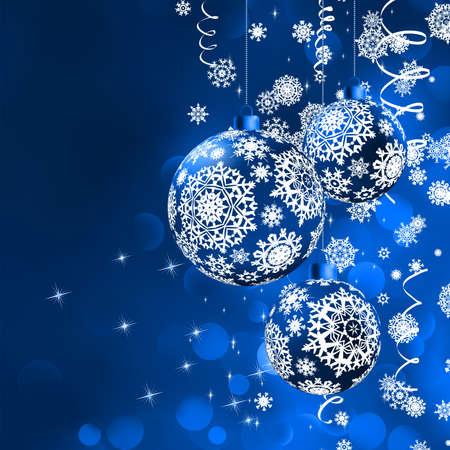Noël bokeh d'arrière-plan avec des babioles