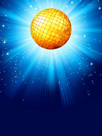 Blue disco background  And also includes EPS 8 vector Vector