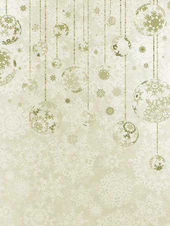 xmas star: Elegant christmas background with baubles