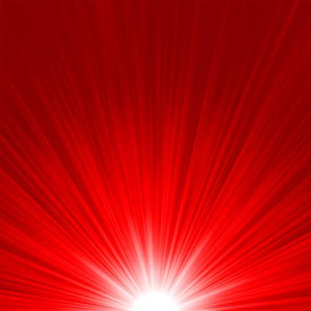 Étoile éclater le feu rouge et le jaune Illustration