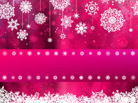 Beige christmas background with christmas snowflake  Vector
