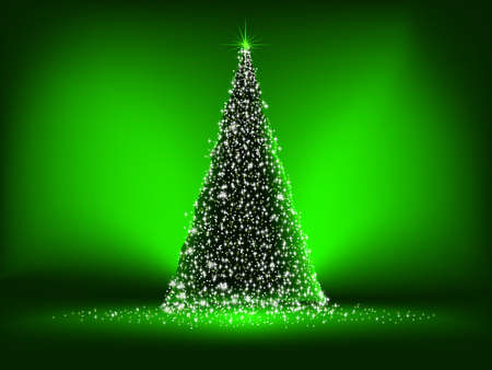 Abstract green christmas green on green background   Vector