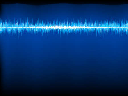 sine wave: Sound waves oscillating on black background  Illustration