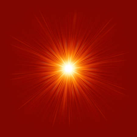 laser radiation: Star burst red and yellow fire   file included