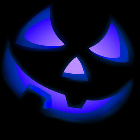 spooky eyes: Jack O Lantern pumpkin illuminated green  file included