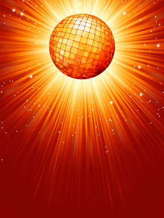 Sparkling orange red disco ball  file included Stock Vector - 15469527