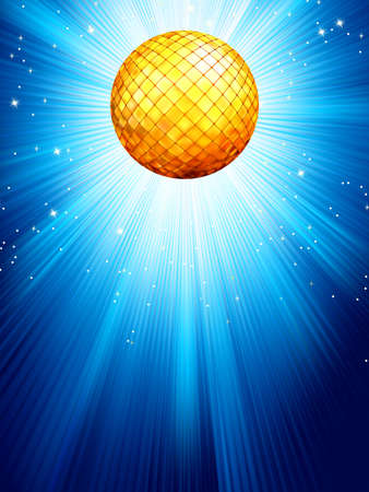 discoball: Blue disco background