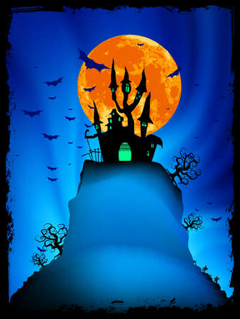 Halloween image with old mansion Vector