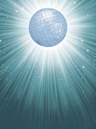 Party Banner with Disco Ball Vector