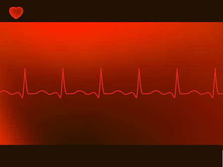heart ecg trace: Abstract heart beats cardiogram