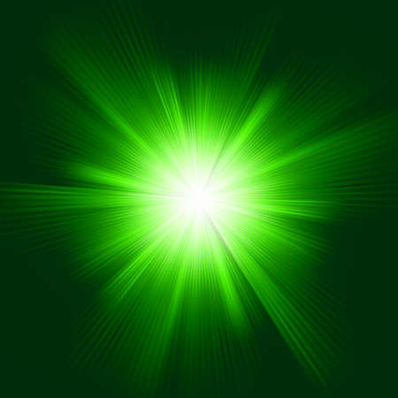Green color design with a burst   Vector