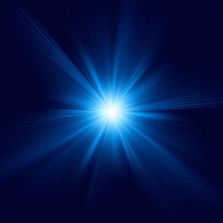 Blaue Farbe Design mit einem Burst. Vektorgrafik