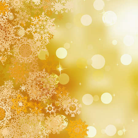 golden border: Golden christmas background.  Illustration