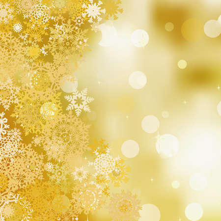 Golden christmas background   Stock Vector - 15899287