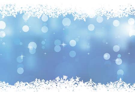 Fond bleu avec des flocons de neige Illustration
