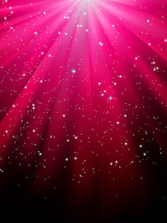 Stars on red striped background  Festive pattern great for winter or christmas themes  EPS 8 vector file included