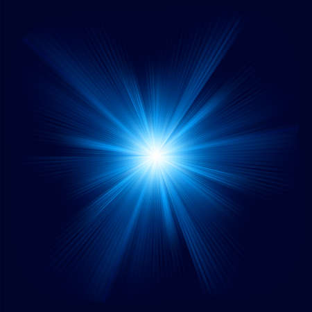 ray of light: Blue color design with a burst   Illustration