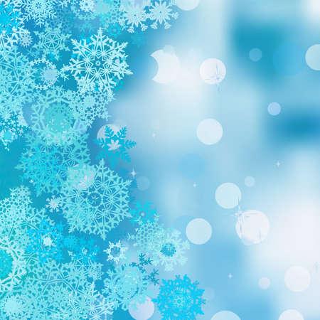 christmas flake: Christmas abstract bokeh