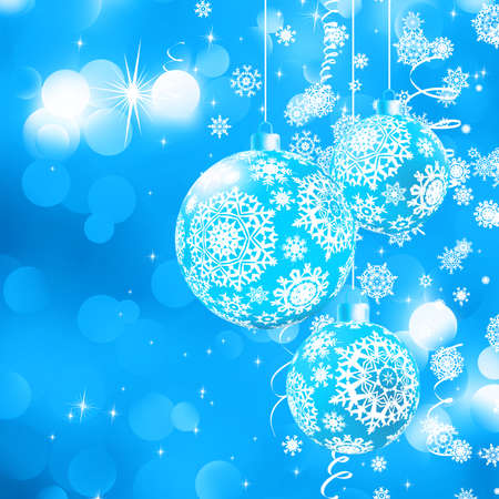 Christmas bokeh background with baubles   Vector