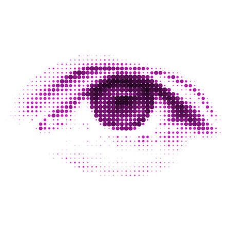 dream vision: Abstract halftone digital eye