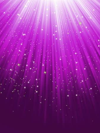 Étoiles sur fond violet rayé fichier inclus Illustration
