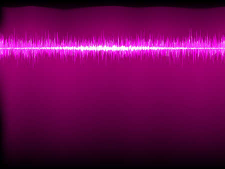 sine wave: Sound waves oscillating on white background  file included