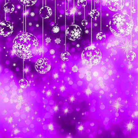 Ñhristmas background with baubles  EPS 8 vector file included Vector