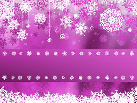 scrapbook frames: Purple christmas background with christmas snowflake  EPS 8 vector file included Illustration