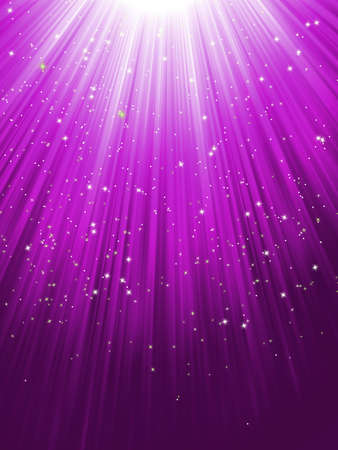 Stars on purple striped background Vector