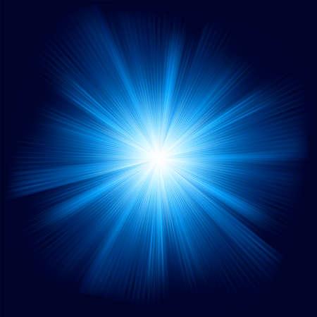 Blue color design with a burst   Illusztráció