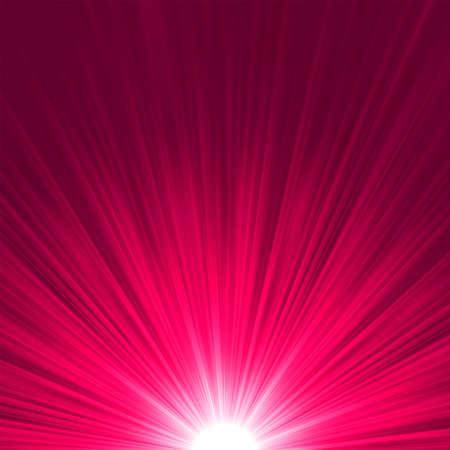 laser radiation: Star burst purple and pink fire