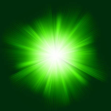 light burst: Green color design with a burst