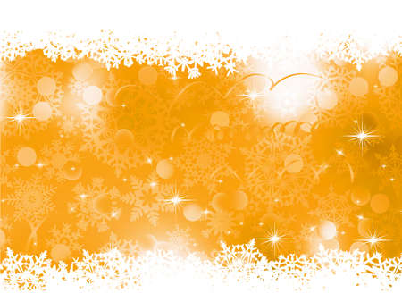 Orange Christmas Background   Vector