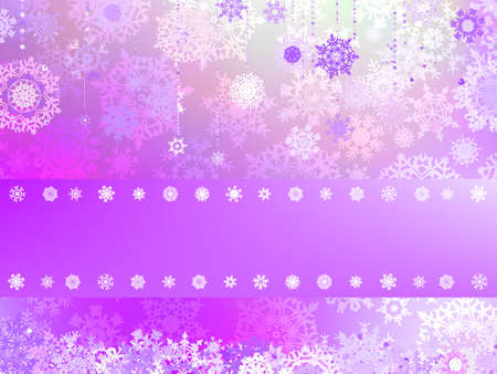 Christmas background with white snowflakes and place for your text   Vector