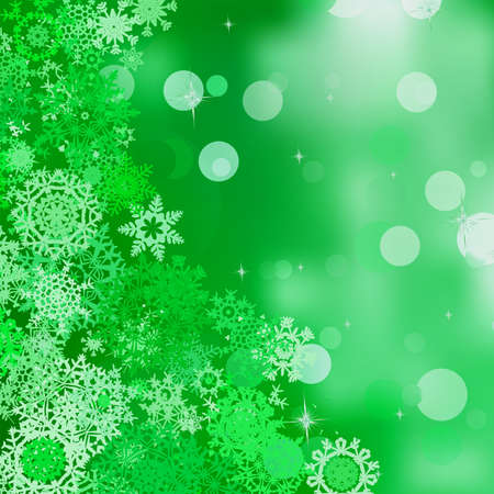 Green abstract Christmas background with white snowflakes  And also includes EPS 8 vector Stock Vector - 16344701