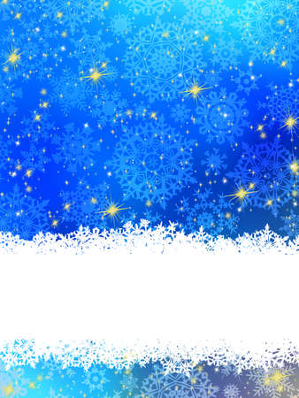 Blue background with snowflakes  EPS 8 vector file included Stock Vector - 16344734