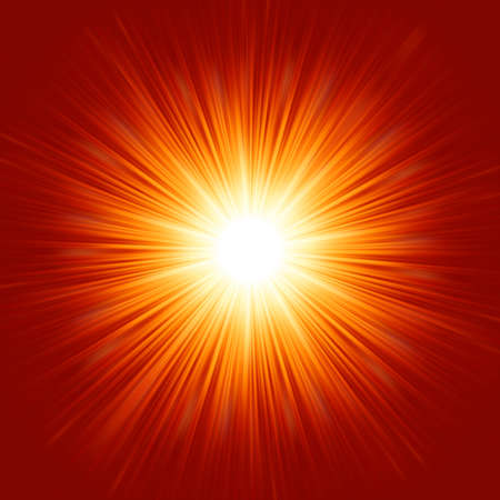 laser radiation: Star burst red and yellow fire  EPS 8 vector file included Illustration