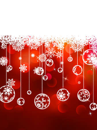 Christmas background with copyspace  All elements on separate layers  EPS 8 vector file included Vector
