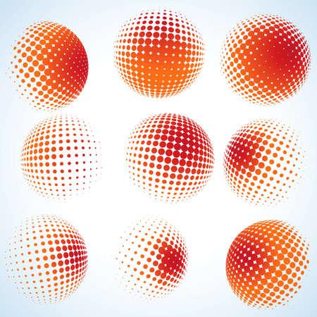 Abstract halftone cercle design Et aussi, EPS, 8 vecteur comprend