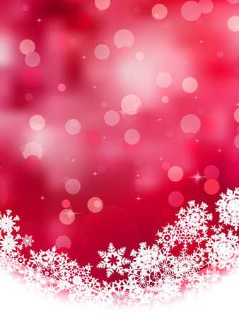 Multicolor abstracte Kerst achtergrond met sneeuwvlok