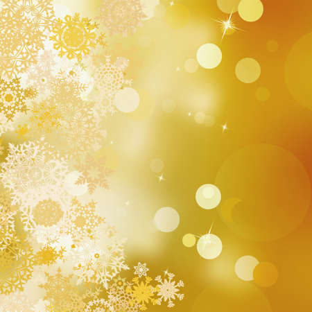 Golden christmas background   Stock Vector - 16637861