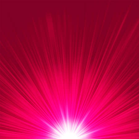 Star burst purple and white flare Vector