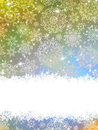 Abstract blue winter background with snowflakes Stock Vector - 16684579