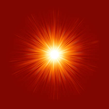 Star burst red and yellow fire Stock Vector - 16684586