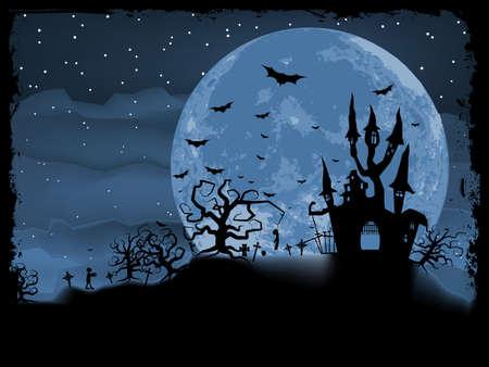 halloween poster: Poster di Halloween con sfondo zombie