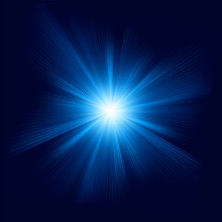 light beams: Blue color design with a burst