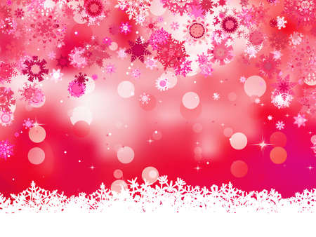 Pink background with snowflakes Stock Vector - 16749569