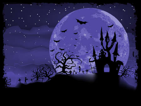 Halloween poster with zombie background included Vector