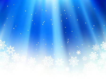 Christmas blue background with snow flakes Stock Vector - 16808776