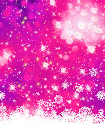 Multicolor abstract christmas background with snowflake  Stock Vector - 16884578